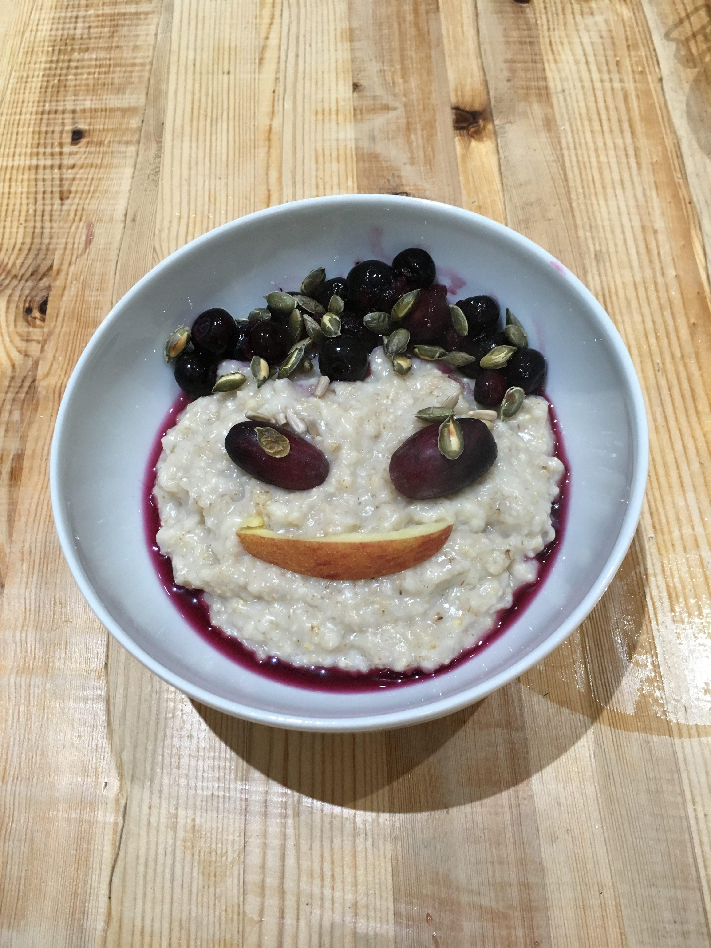 Queensberry House breakfast porridge