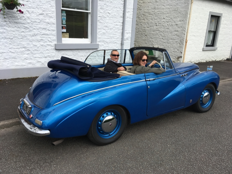 Sunbeam car at Moffat Classic Car Rally