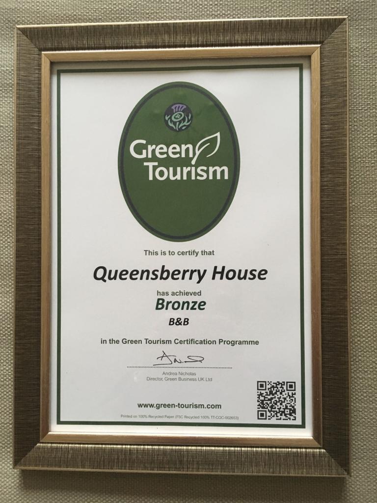Green Tourism Bronze Award Queensberry House
